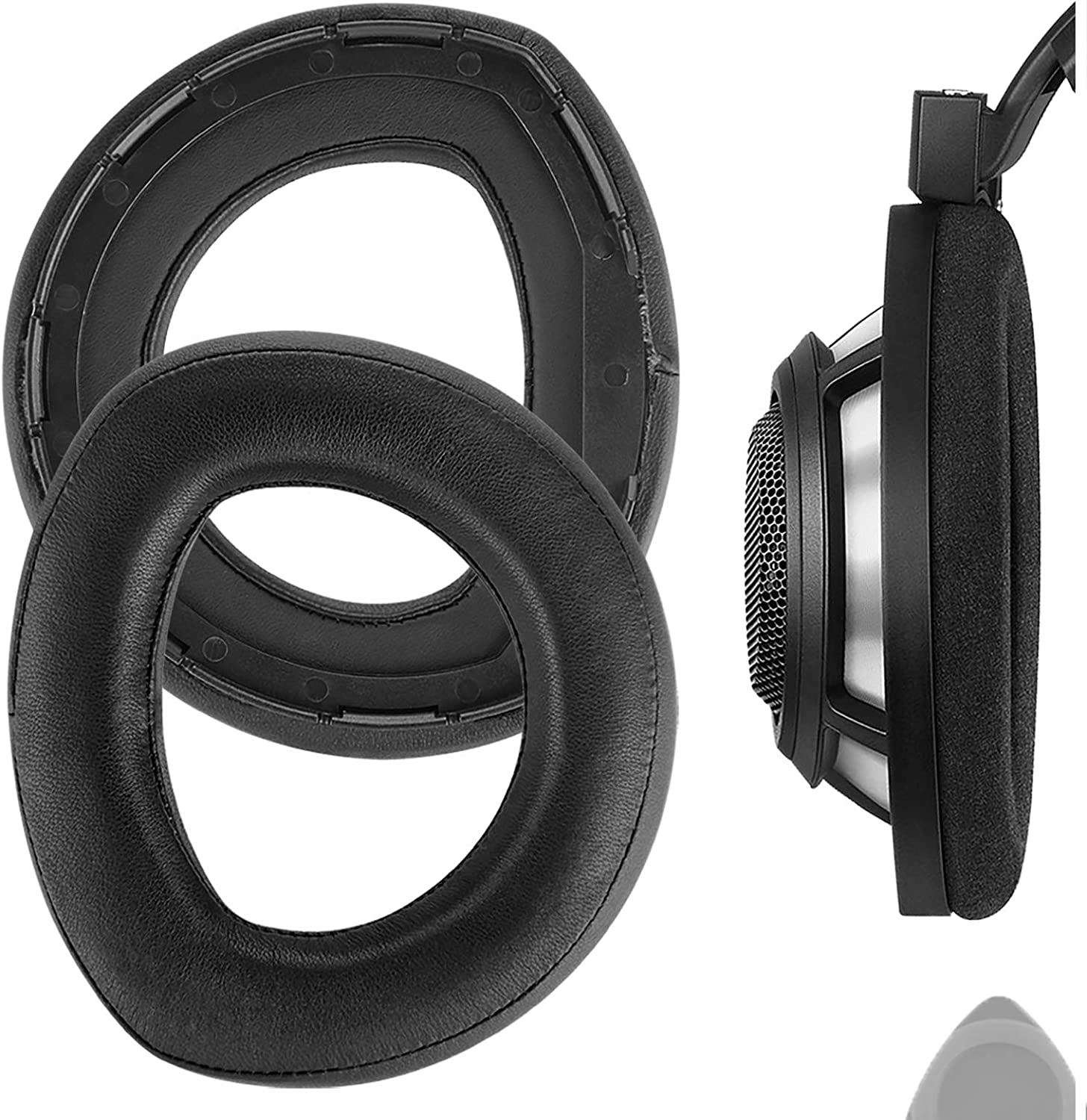 Geekria Elite Cheap mail order sales Sheepskin Replacement Ear for Sennheiser Pads HD80 Cheap super special price