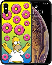 Simson Homer Donuts Design Hard PC Protective Cover Case for iPhone 6 6S 7 8 Plus X XS Max XR (iPhone XR)