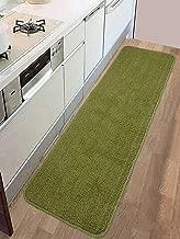 Saral Home Anti Slip Polyester Kitchen Runner- 40x120 cm, Green