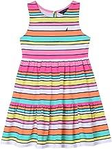 Nautica Girls' Striped Sleeveless Dress