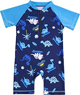 Toddler Swimsuits Baby Boy Swimsuit One-Piece Rash Guard Infant Sun Protection Swimwear