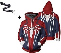 1Bar Spiderman Captain America Deadpool Hoodie Pullover Sweatshirt 3D Print Hoody Lightweight Sweater Costume
