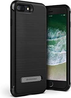 iPhone 8 Plus / 7 Plus Case VRS Design [Duo Guard Series] Heavy Duty Military Grade Protection Metal Kickstand Metal Black...