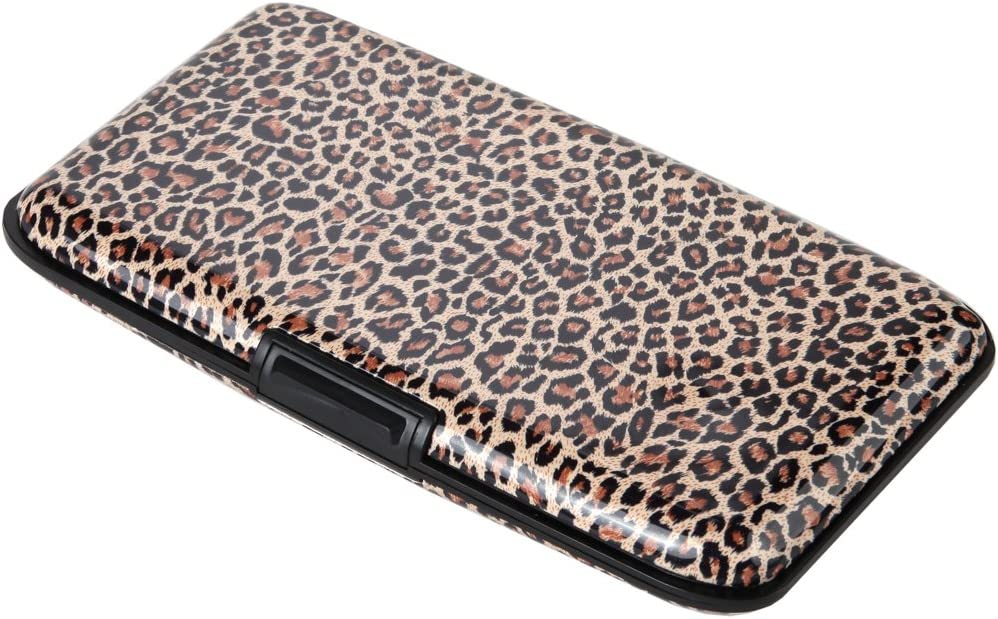 Home-X Animal Print RFID Security Wallet, Shield Yourself from Fraud in Style, Leopard