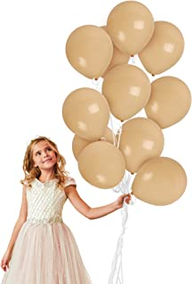 Treasures Gifted Solid Ivory Cream Beige Balloons 10 Inch Latex 72 Pack Khaki Tan Ice Cream Balloon for Bridal Baby Shower Decorations for Girl or Boy Wedding Engagement Bachelorette Party Supplies