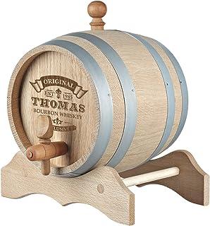 5 litres Barrel - Gravé personnalisé Cadeau Original - Fûts de chêne pour Le Whisky ou du vin - idée Cadeau pour Les Homme...