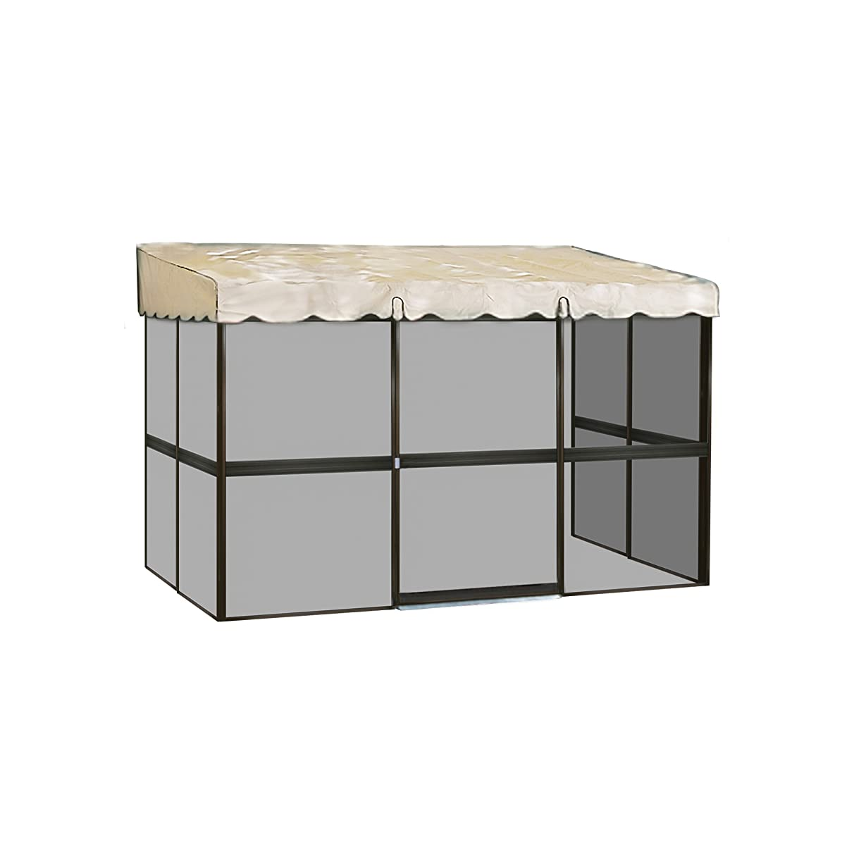 Patio Mate 7-Panel Screen Enclosure 79365, Brown with Almond Roof