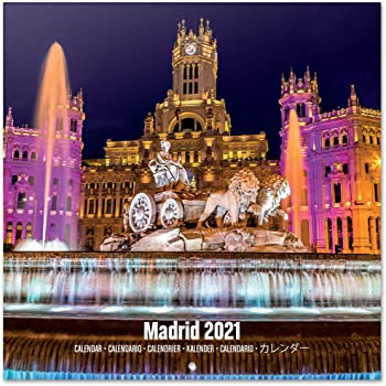 Calendario 2021 da Muro Madrid, calendario 2021 da parete, 16 mesi