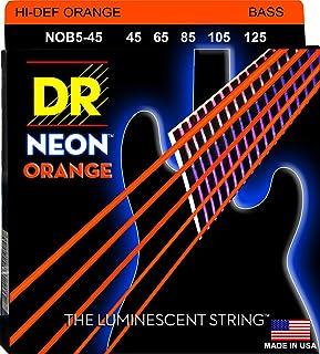 DR Strings HI-DEF NEON Bass Guitar Strings (NOB5-45)