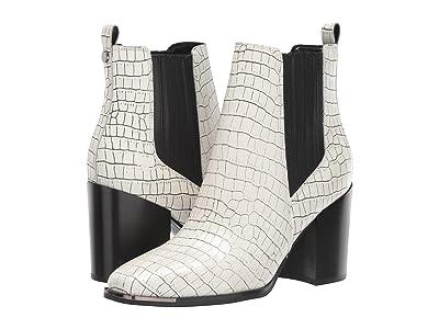 Marc Fisher LTD Taline (White/Black Croco Leather) Women