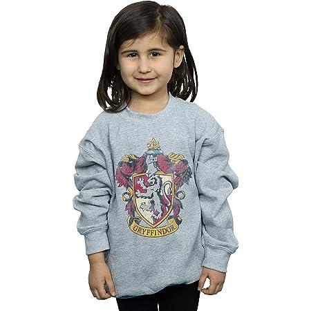 HARRY POTTER niñas Gryffindor Distressed Crest Camisa De Entrenamiento 9-11 Years Gris Sport
