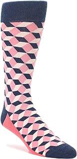 Statement Sockwear Cube Optical Men's Dress Socks