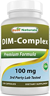 Best Naturals DIM Supplement 100 mg 120 Capsules, DIM for Estrogen Metabolism & Balance, For Menopause, Body Building, PCO...