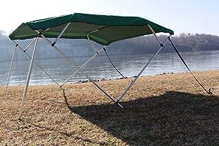 Vortex New Green Pontoon/Deck Boat 4 Bow Bimini Top 10' Long, 8'Wide, FITS 91-96