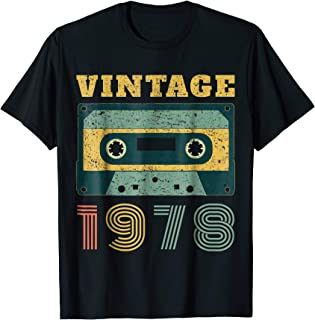 41st Birthday Gift Vintage 1978 Year Old Mixtape T-Shirt