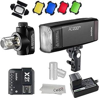 Godox AD200Pro 200W TTL 2.4G HSS 1/8000s Flash Speedlite con gatillo inalámbrico X2T-N, kit de panal de abeja, BD-07, cubi...