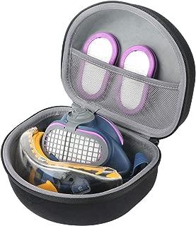 co2crea Hard Travel Replacement Case for GVS SPR457 / SPR451 Elipse P100 Half Mask Respirator + DEWALT DPG82-11 / DPG82-11CTR Concealer Clear Anti-Fog Dual Mold Safety Goggle