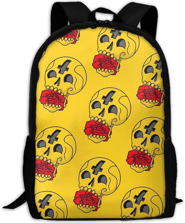 a3605e534c0b Backpack Briefcase Travel Hiking School Bags Skull Daypack Shoulder ...