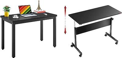 """Mr IRONSTONE Computer Desk 47.2"""" & Height Adjustable Desk 45.7"""" Computer Desk"""