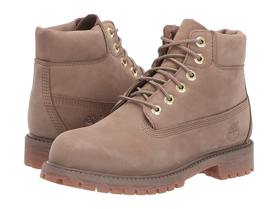 Timberland Kids 6 Premium Waterproof Boot (Little Kid) (Dark Beige Nubuck) Kids Shoes
