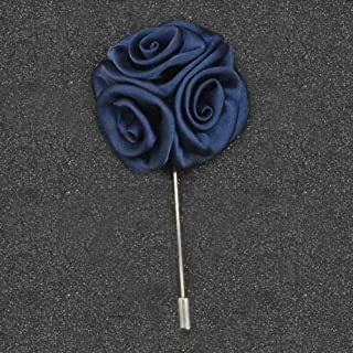 Men Women Cocktail Suit Corsage Lapel Stick Flower Pin Scarf Brooch Breastpin Daily Popular Aesthetic Party Girl Jewerly Cheap Design   StyleID - #9-Dark Blue
