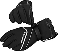 OlarHike Men's Ski Gloves, Winter Snow Gloves for Women, Touch-Screen&Waterproof