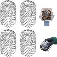 Metalen dakgoot bescherming, 4 stuks bladzeef, regenfilterrooster, aluminium filterrooster, mos-, vuil-, modder- en vuilbe...