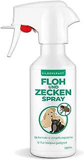 Silberkraft Floh - und Zeckenspray 250 ml für Hund, Katze und andere Haustiere - ideales Anti-Zecken Mittel - gegen Flöhe, Zecken, Parasiten, Ungeziefer