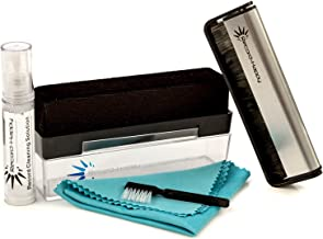 Vinyl Record Cleaning Brush Kit - 2 Premium Brushes (Velvet and Carbon Fiber) Bonus Cleaning Solution Anti-Static Microfiber Cloth and Stylus Cleaner. Our Best LP Care Set for Your Album Collection