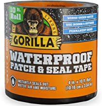 "Gorilla Waterproof Patch & Seal Tape 4"" x 10` Black, (Pack of 1)"