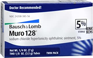 Bausch & Lomb Muro 128 Ointment 5% 2-Pack 7 g (Pack of 3)