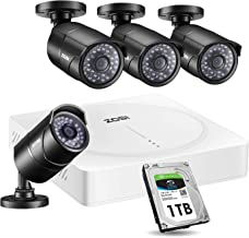 ZOSI 5MP 8 Channel Security Camera System, CCTV DVR 8 Channel (1TB HDD Built-in) W / 4 x HD 5MP(2592 x 1920) Surveillance Camera Outdoor/Indoor-Remote Access, Motion Detection