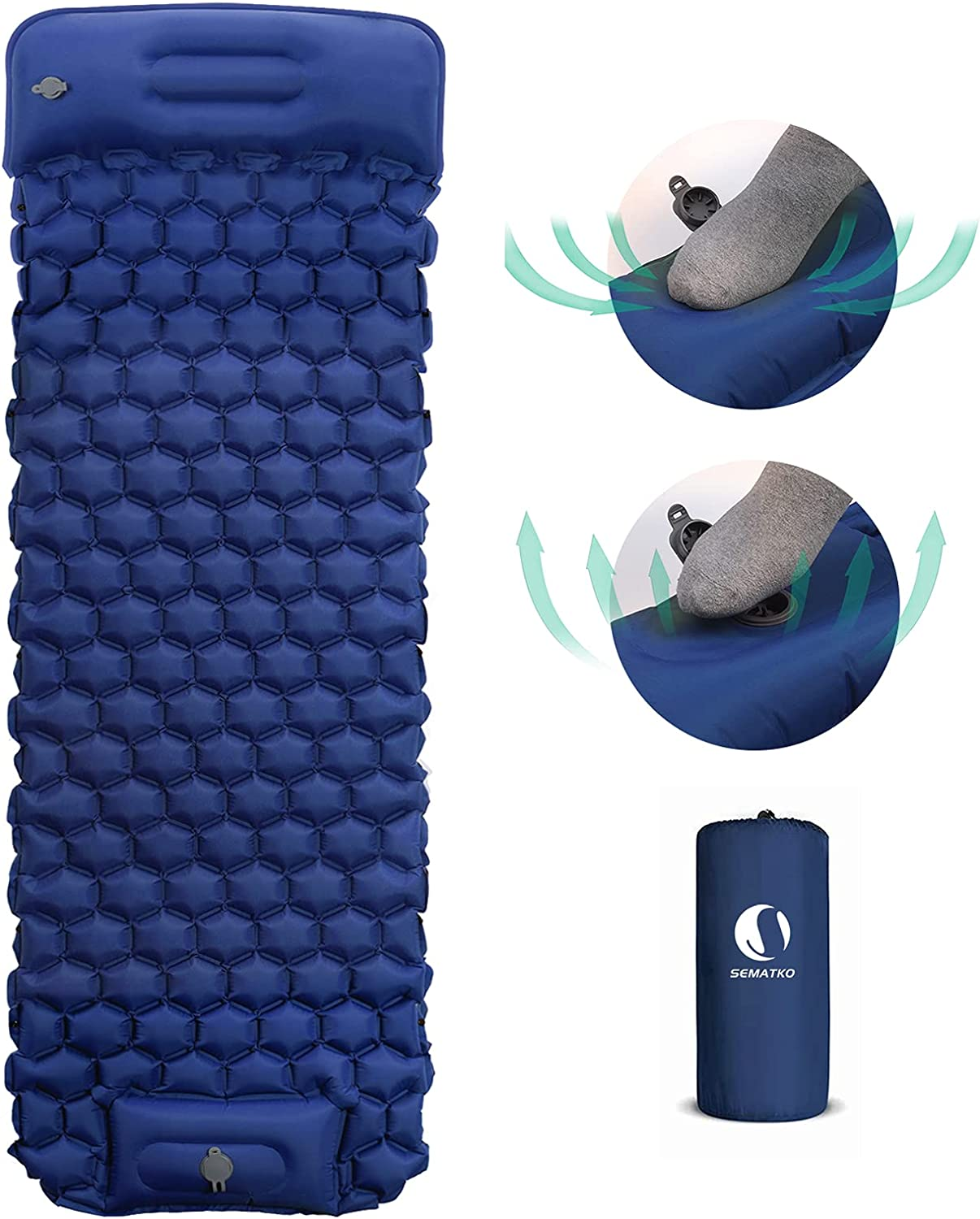 SEMATKO Inflatable Camping Sleeping 5 Inventory cleanup selling sale ☆ popular with Pillow Pads Ai