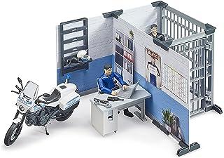 bworld Set Police Station w Police Motorbike