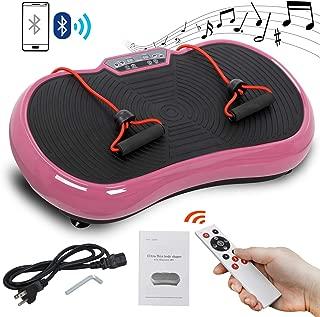SUPER DEAL Pro Vibration Plate Exercise Machine - Whole Body Workout Vibration Fitness Platform Fit Massage Workout Trainer w/Loop Bands + Bluetooth + Remote, 99 Levels
