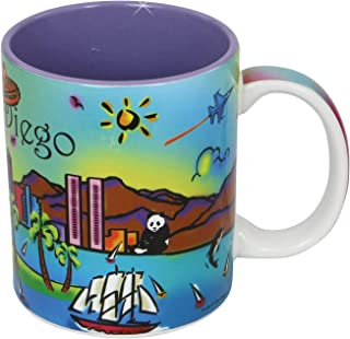 San Diego Coffee Mug Neon Rainbow 11 Ounce Ceramic Mug