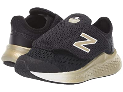 New Balance Kids Fresh Foam Fast (Infant/Toddler) (Black/Gold Metallic) Girls Shoes