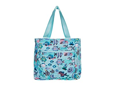 Vera Bradley ReActive Drawstring Family Tote (Paisley Wave Fish) Tote Handbags
