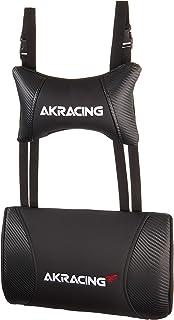 AKRacing クッションセット 交換用ヘッドレスト+ランバーサポートセット PUレザー カーボンブラック