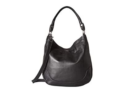 Frye Melissa Hobo (Black Smooth Full Grain 1) Hobo Handbags