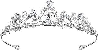 FRCOLOR 王冠 ティアラ ブライダル ティアラ ヘアアクセサリー 結婚式 ウェディング アクセサリー 花嫁 誕生日 プレゼント