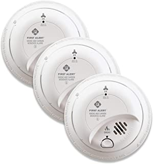 First Alert BRK SC9120B-3 Hardwired Smoke and Carbon Monoxide (CO) Detector with Battery Backup, 3-Pack
