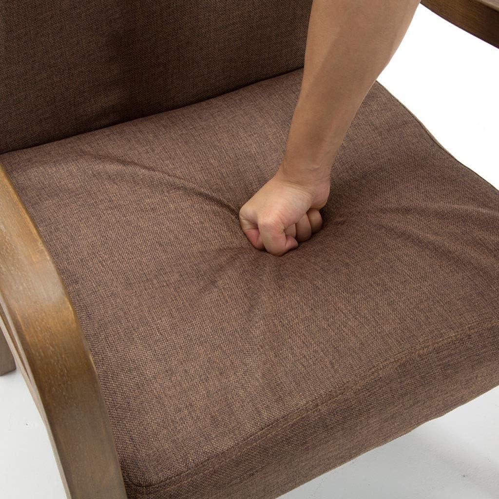 Chaises en Bois de Salle à Manger/côté avec Le Bras, Chaise de réception d'accent d'invité de Loisirs tapissée par Tissu Contemporain Alphabet
