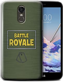 STUFF4 Gel TPU Phone Case/Cover for LG Stylus 3/Stylo 3/K10 Pro/Dog Tags Design/FN Battle Royale Collection