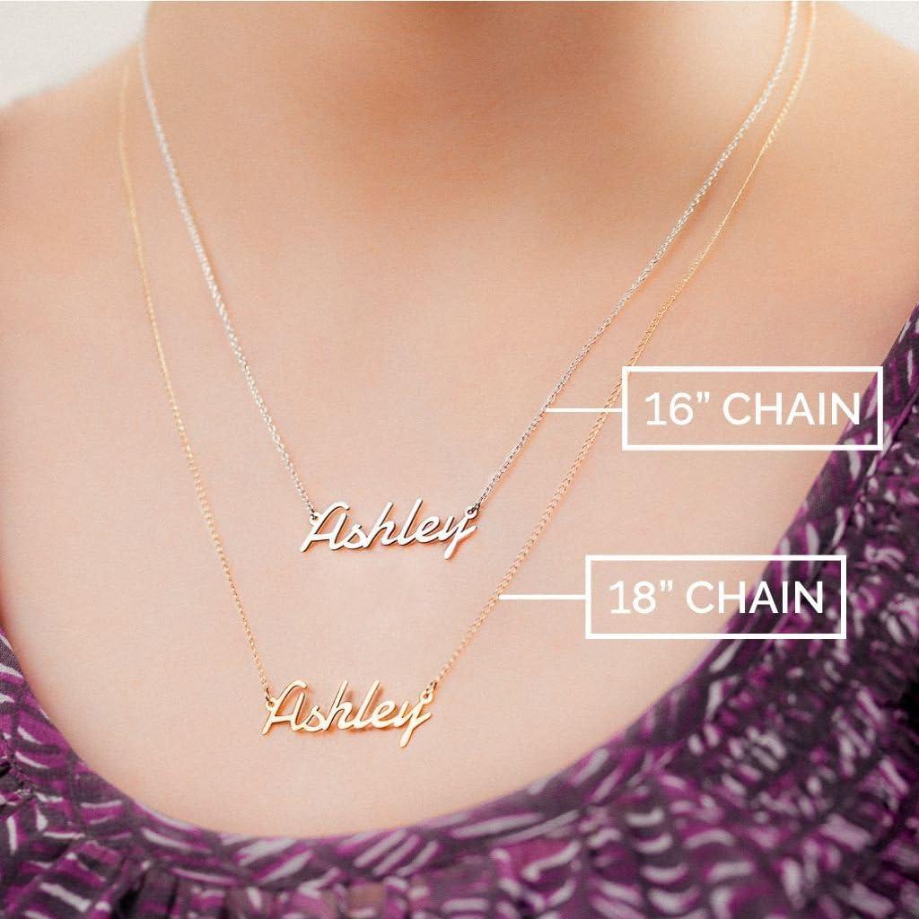 14K Infinty Name Necklace by JEWLR