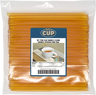 By The Cup Simply Pure Honey Sticks for Tea - 100 Honey Straws, 100% Pure Honey