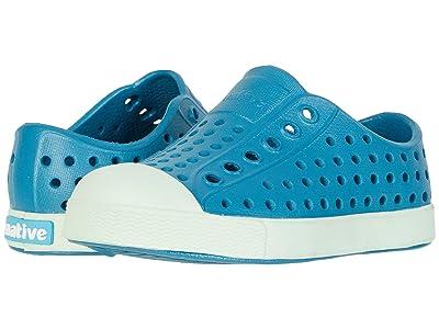 Native Kids Shoes Jefferson (Toddler/Little Kid) (Depth Blue/Celtuse Green) Kids Shoes