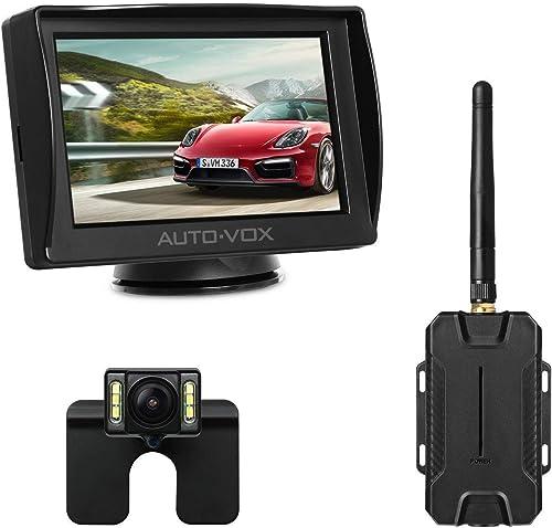 AUTO-VOX M1W Wireless Reversing Camera Kit,IP 68 Waterproof LED Super Night Vision License Plate Reverse Reversing Re...