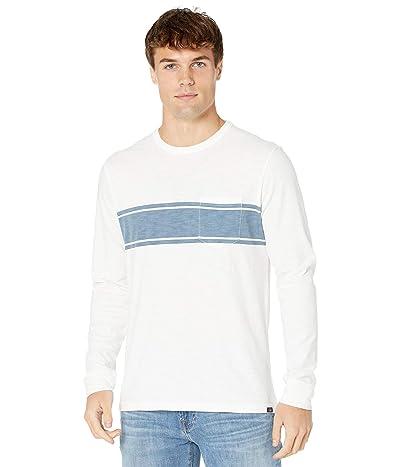 Faherty Long Sleeve Surf Stripe Tee (White) Men
