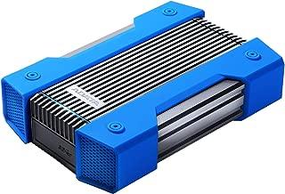 ADATA HD830 4TB Ruggedized IP68 Extra Strength USB3.1 Waterproof Dustproof Drop-Proof External Hard Drive Blue (AHD830-4TU31-CBL)